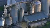 PHOTOS: Grain silo crumples at Wilcox Farms - (12/15)