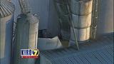 PHOTOS: Grain silo crumples at Wilcox Farms - (7/15)
