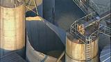 PHOTOS: Grain silo crumples at Wilcox Farms - (9/15)