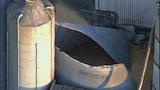 PHOTOS: Grain silo crumples at Wilcox Farms - (10/15)