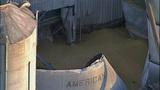 PHOTOS: Grain silo crumples at Wilcox Farms - (2/15)