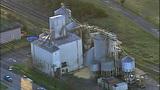 PHOTOS: Grain silo crumples at Wilcox Farms - (8/15)