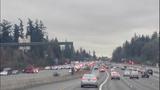 PHOTOS: I-405 crash critically injures 1 - (1/5)
