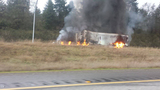 PHOTOS: 1 killed in fiery crash on southbound I-5 - (14/25)