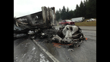 PHOTOS: 1 killed in fiery crash on southbound I-5 - (1/25)