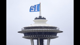 PHOTOS: 12th Man flag flies atop Space Needle - (3/9)