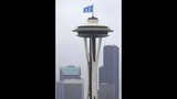 PHOTOS: 12th Man flag flies atop Space Needle - (4/9)