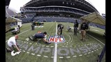 PHOTOS: Workers ready field for Seahawks game… - (4/11)