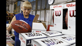 PHOTOS: How are official Super Bowl footballs made? - (13/16)