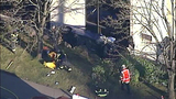 PHOTOS: Car slams into building, rolls over - (8/11)