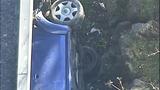 PHOTOS: Car slams into building, rolls over - (2/11)