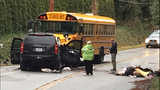 PHOTOS: SUV smashed in crash with school bus - (6/10)