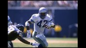 10 Sep 1995: Running back Chris Warren of the Seattle Seahawks carries the football during the Seahawks 14-10 loss to the San Diego Chargers at Jack Murphy Stadium in San Diego, California. Mandatory Credit: Doug Pensinger/Allsport