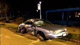 PHOTOS: 2 arrested, cars crunched in double DUI crash - (8/18)