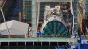 Sept. 23, 2013: Bertha resumed digging after a four-week delay.