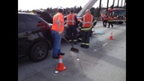 PHOTOS: I-90 hit-and-run sends 1 to hospital - (6/9)