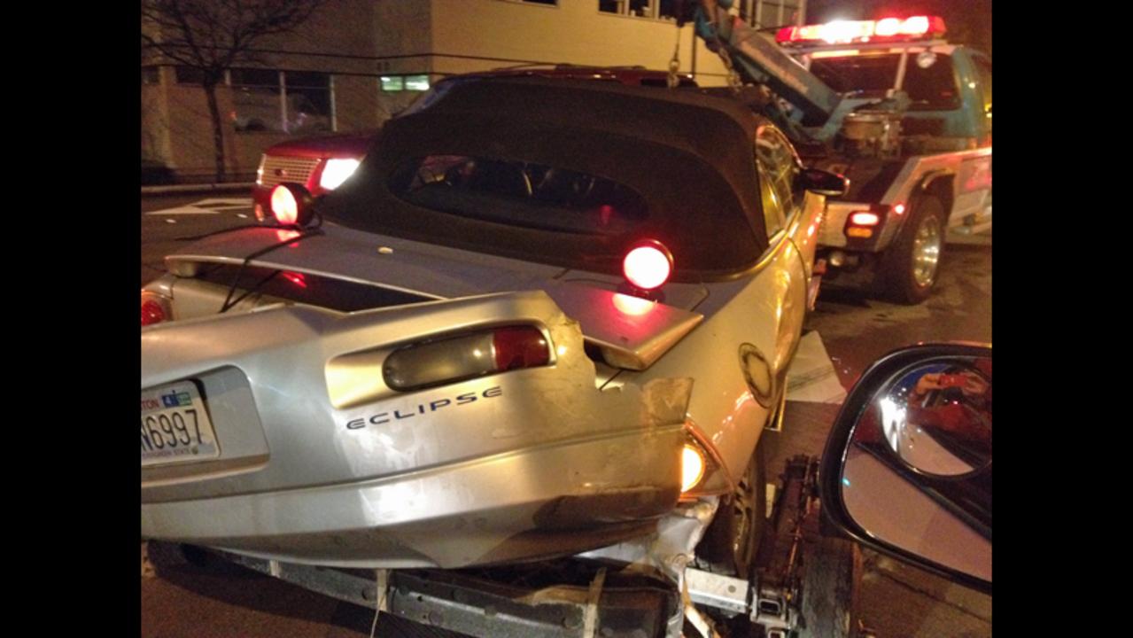 PHOTOS: Wild chase ends in 3-car crash   KIRO-TV