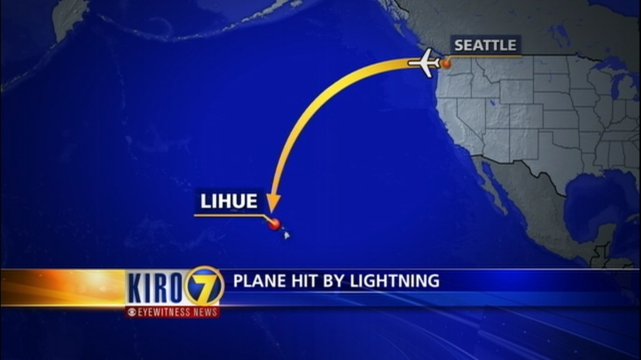 Alaska Airlines plane flying from Seattle to Hawaii struck by