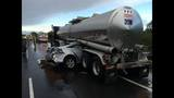 PHOTOS: Car collides with semitruck tanker - (4/4)