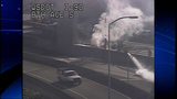 PHOTOS: Dump truck crash, fire tangles I-5 traffic - (1/20)