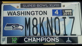 SeattleInsider: Seahawks 12th Man license plates - (8/25)