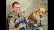 Corporal Deano Miller, a Tacoma native, joined the Marine Corps at age 18 and served on deployment in Afghanistan as a member of the infantry. The yellow lab, Thor, served with him in Afghanistan.
