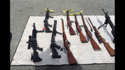 The Snohomish County Regional Drug and Gang Task Force recovered several stolen weapons after serving a search warrant June 26, 2014, on a storage unit in Everett.