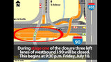PHOTOS: What will be closed on I-90 starting July 18? - (11/12)