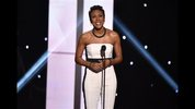 Robin Roberts speaks on stage at the ESPY Awards at the Nokia Theatre on Wednesday, July 16, 2014, in Los Angeles. (Photo by John Shearer/Invision/AP)