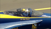 Four of the Blue Angel jets arrived in Seattle in advance of the big air show at Seafair this weekend.