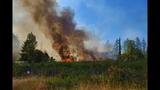 PHOTOS: Crews battle brush fire near Roy at JBLM - (6/10)