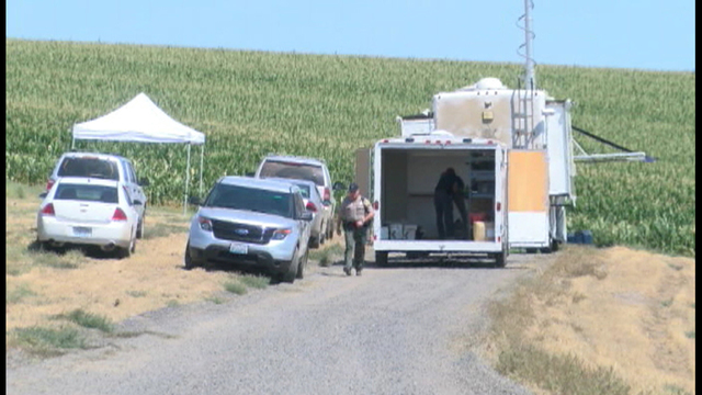 Authorities are investigating after three bodies were found on a farm in Benton County Saturday.