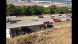 PHOTOS: Semi lands in embankment after I-5 crash - (5/15)