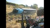 PHOTOS: Semi lands in embankment after I-5 crash - (15/15)