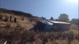 PHOTOS: Semi lands in embankment after I-5 crash - (13/15)