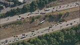 PHOTOS: Semi lands in embankment after I-5 crash - (8/15)