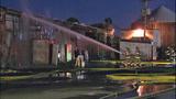 Fire at auto auction storage building_6029314