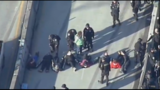 Protesters blocking NB Aurora Ave; police close traffic at Battery tunnel _6676011