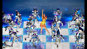 GLENDALE, AZ - FEBRUARY 01: Singer Katy Perry performs with dancers during the Pepsi Super Bowl XLIX Halftime Show at University of Phoenix Stadium on February 1, 2015 in Glendale, Arizona. (Photo by Jamie Squire/Getty Images)