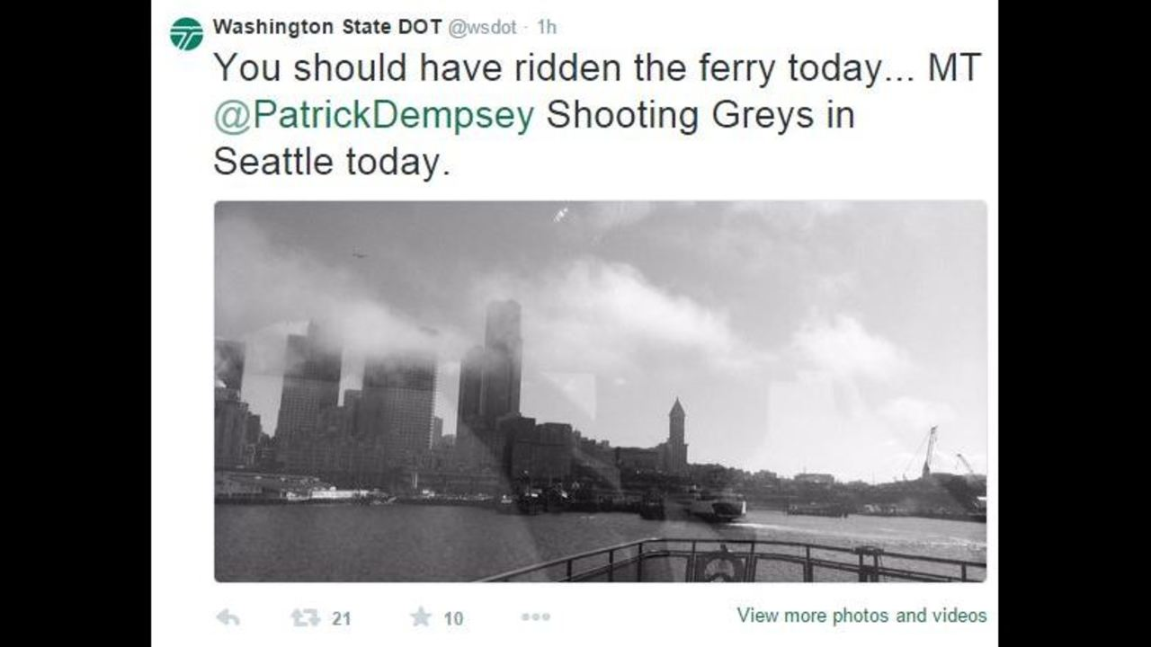 McDreamy\' in Seattle, riding the ferries and shooting Grey\'s Anatomy ...