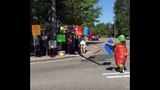 Protestors gather streetside Thursday, urging Costco to not sell genetically modified fish._7502343