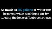 The car should be washed on the lawn if possible to reduce runoff.