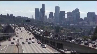 Weekend I-5 lane closures in Seattle cause backups