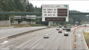 The new express toll lanes on I-405 run between Bellevue and Lynnwood. Tolls start on Sunday, Sept. 27.