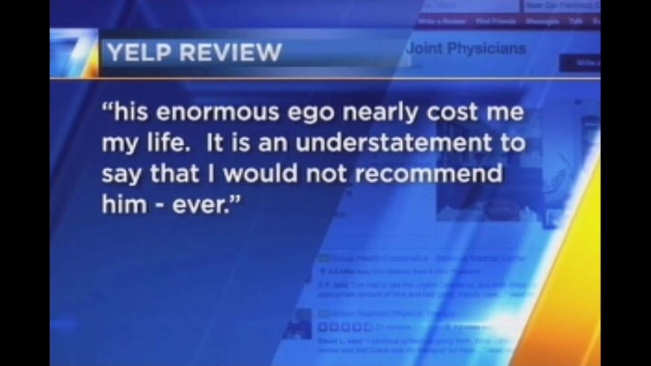 Former patient sued over negative Yelp review   KIRO-TV