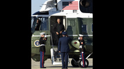 President Barack Obama walks off of Marine One as he prepares to board Air Force One at Andrews Air Force Base in Md., Saturday, Oct. 14, 2015. Obama is departing for a nine-day trip to Turkey, the Philippines and Malaysia for global security and economic summits. The global anxiety sparked by a series of deadly attacks in Paris by the Islamic State group has given new urgency to Obama's upcoming talks with world leaders. (AP Photo/Susan Walsh)