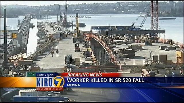 ... Worker dies after 60 foot fall at SR 520 bridge construction site KIRO