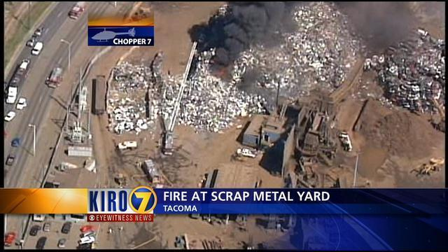 Fire Ignites In Tacoma Scrap Metal Pile KIROTV - Schnitzer scrap yard