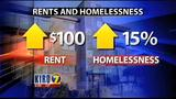 VIDEO: Rising rents leading to homelessness, officials say