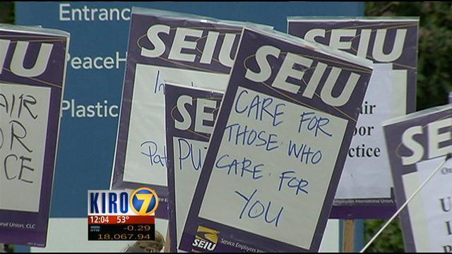 Hospital Workers Strike Amid Stalled Negotiations Kiro Tv